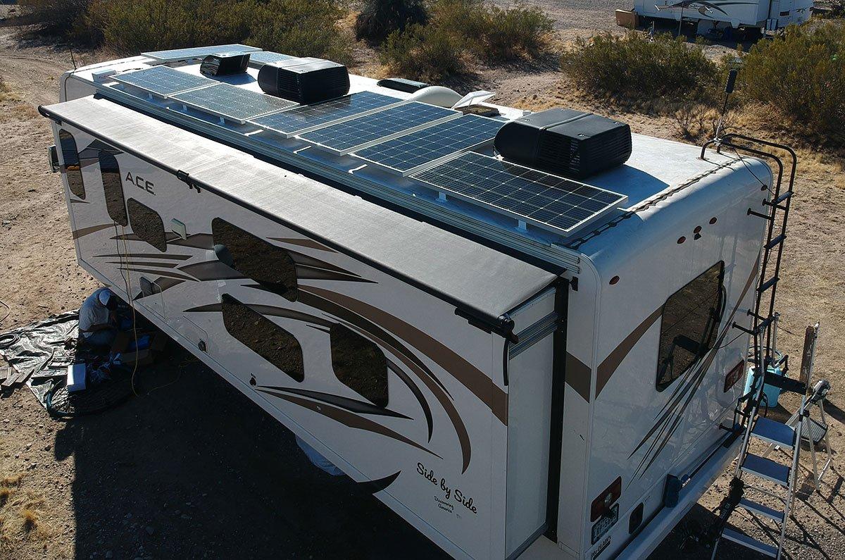 Class A RV Solar on top